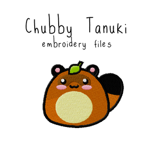 Chubby Tanuki (with and without outline) - Flea Circus Designs