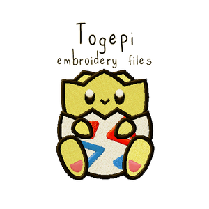Togepi (with and without outline) - Flea Circus Designs