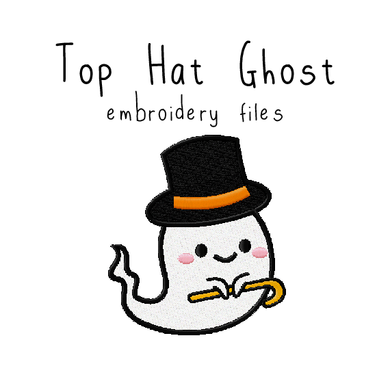 Top Hat Ghost - Flea Circus Designs