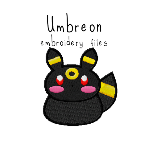 Umbreon (with and without outline) - Flea Circus Designs
