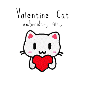 Valentine Cat - Flea Circus Designs