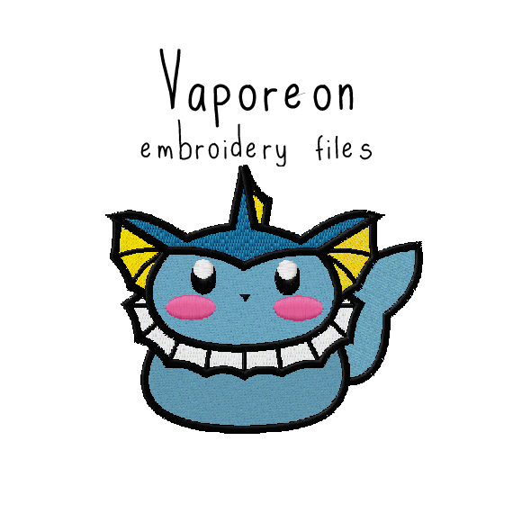 Vaporeon (with and without outline) - Flea Circus Designs