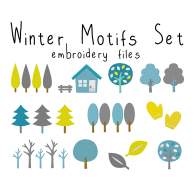 Winter Motifs Set - Flea Circus Designs