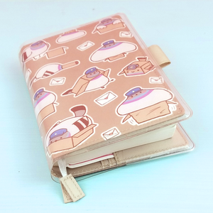 Poe Hobonichi A6 Size Planner Cover + Clear Cover - Flea Circus Designs
