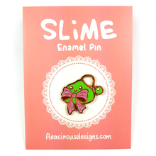 Slime With Bow Pin - Flea Circus Designs