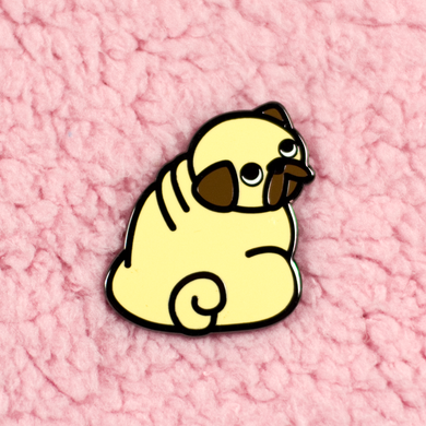 Pug Pin - Fawn - Flea Circus Designs