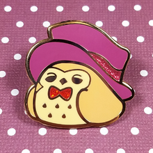 Tea Time Brown Owl Pin - Flea Circus Designs