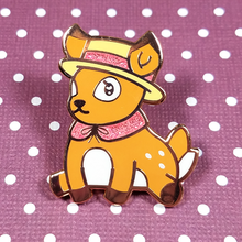 Tea Time Deer Pin - Flea Circus Designs