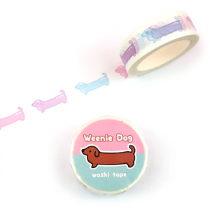 Pastel Weenie Dog Washi Tape - Flea Circus Designs