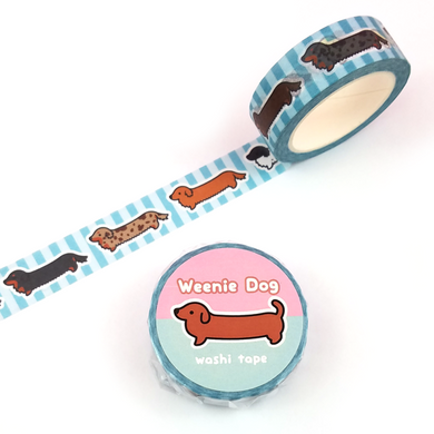 Long Coat Weenie Dog Washi Tape - Flea Circus Designs