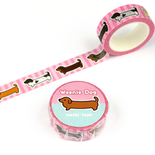 PRE-ORDER Smooth Coat Weenie Dog Washi Tape - Flea Circus Designs