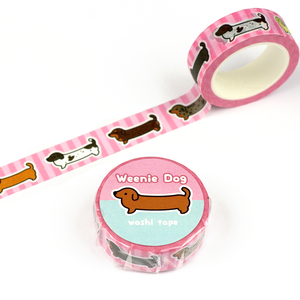 Smooth Coat Weenie Dog Washi Tape - Flea Circus Designs