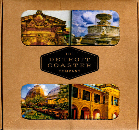 Iconic Detroit Coaster Belle Isle Boxed Set A (4 Coasters per Box)