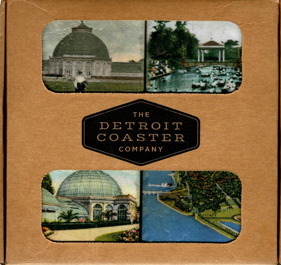 Iconic Detroit Coaster Historical Belle Isle Boxed Set B (4 Coasters per Box)
