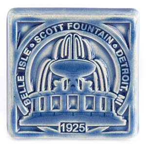 James Scott Memorial Fountain Pewabic Tile