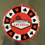 """Welcome To Las Vegas Vintage"" Decorative Beer Bottle Cap Vintage Iron Sign"