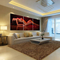"""Beauty Nude"" Painting Multi Panel Modular Wall Art HD Printed Canvas"