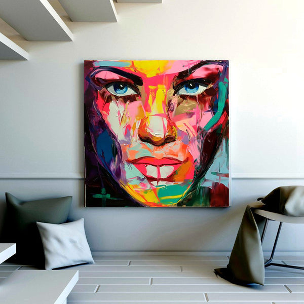 """Abstract Face"" Painting Wall Art HD Printed Canvas"