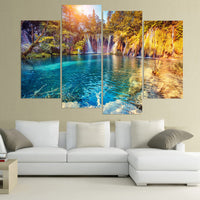 """Clear Pool Nature"" Painting Multi Panel Modular Wall Art HD Printed Canvas"