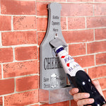 Creative Wall Beer Bottle Opener with Cap Catcher - Accessory (multiple styles)