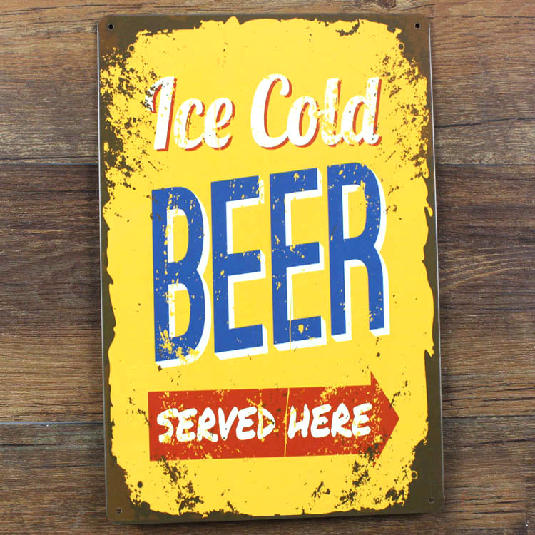Vintage House Cafe bar Poster Ice cold beer poster  Metal Tin Signs retro Painting wall art decor house decoration 20x30 cm