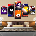 """Color Billiards Pool"" Painting Multi Panel Modular Wall Art HD Printed Canvas"