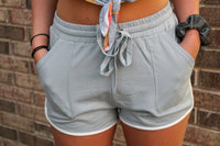 Baby Blue Drawstring Shorts