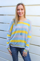 Pastel Striped Sweater