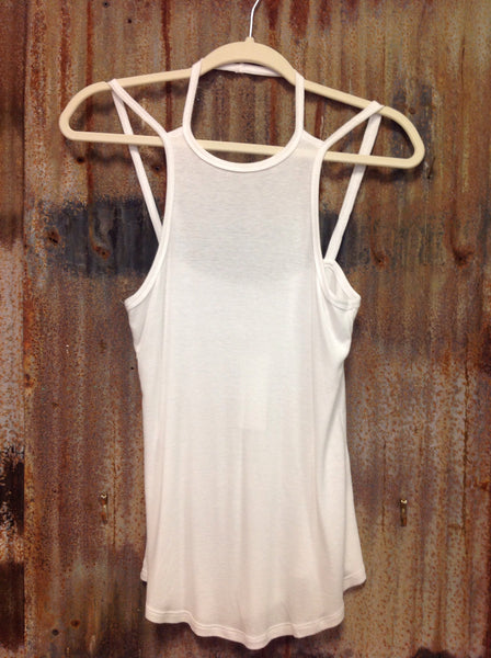 White Creed Tank
