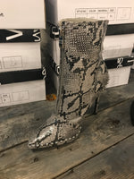 Snakeskin Heeled Boot