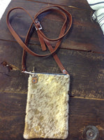 Small Gold Leather Cross Body Purse