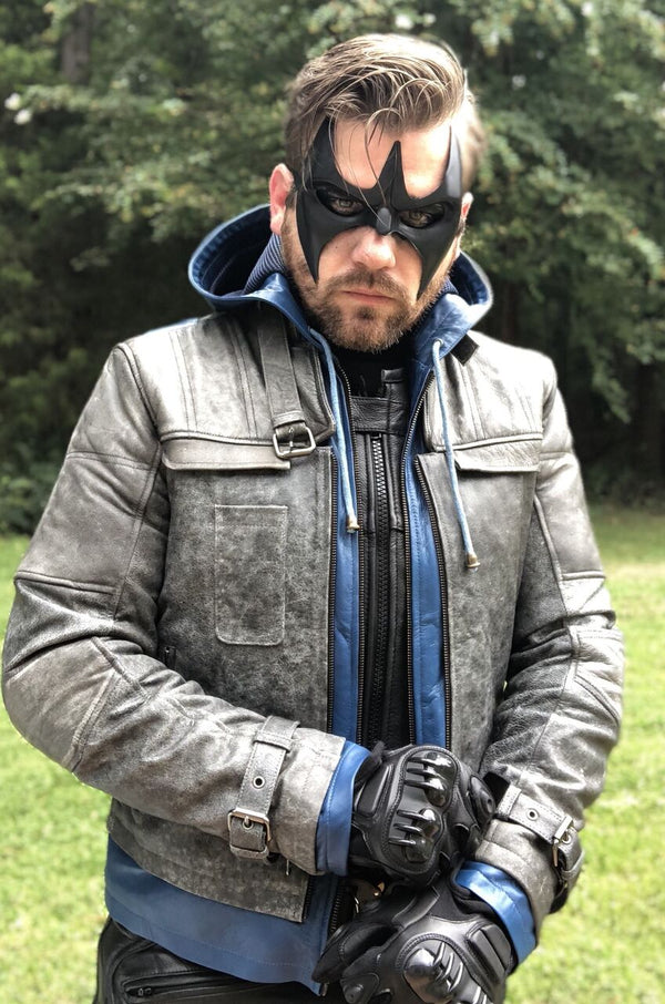 DC Comics Superhero Dick Grayson Nightwing Leather Jacket