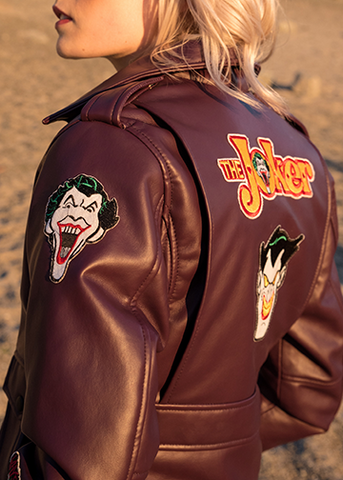 Buy Womens Joker Jacket Vintage Patches Bomber Jacket