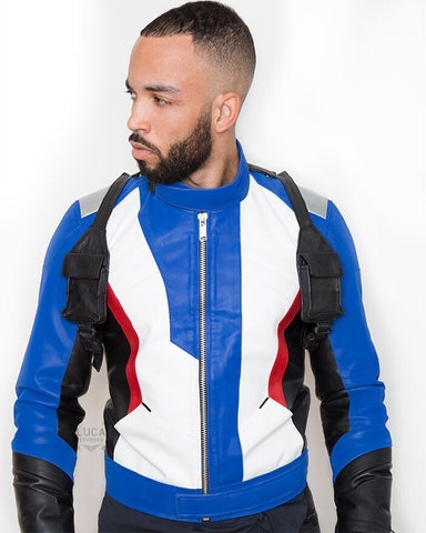 Luca_Designs_Soldier_76_Overwatch_blue_edition_video_game_leather_jacket_cosplay_costume_buy_mens_front_view
