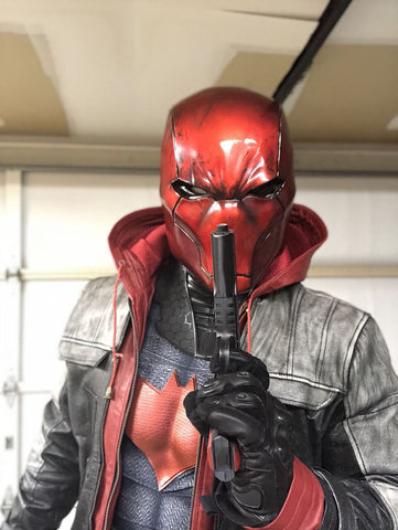Buy Mens Jason Todd Red Hood Leather Jacket By Luca Designs