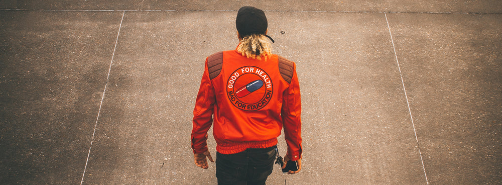 red akira motorcycle lesther jacket