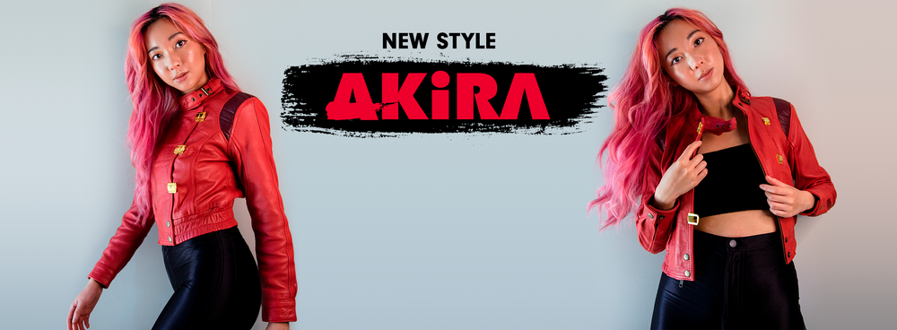 new akira jacket for womens, cropped and full length
