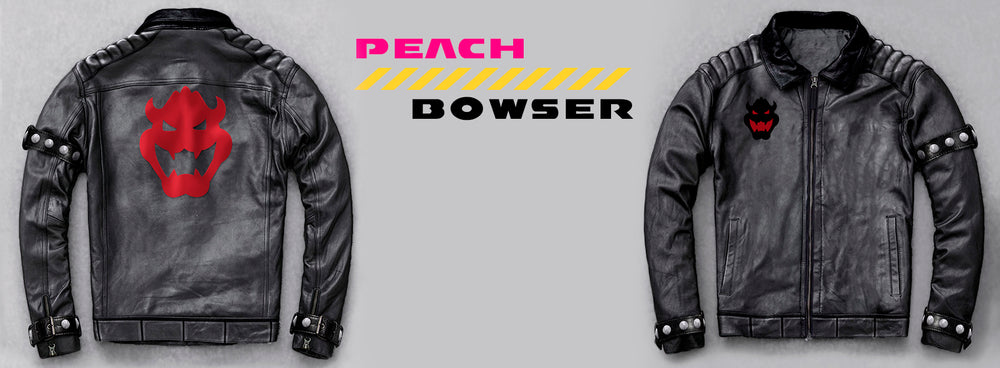 King Bowser New Black Moto Leather Jacket