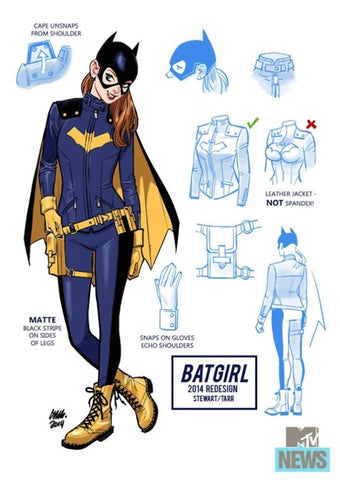 Barbara Gordon Batgirl Character Design and Costume Details