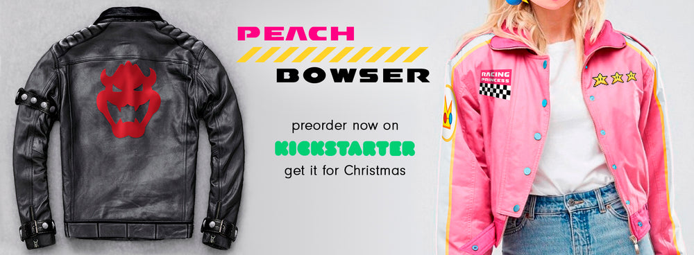Peach & Bowser jackets preorder on kickstater