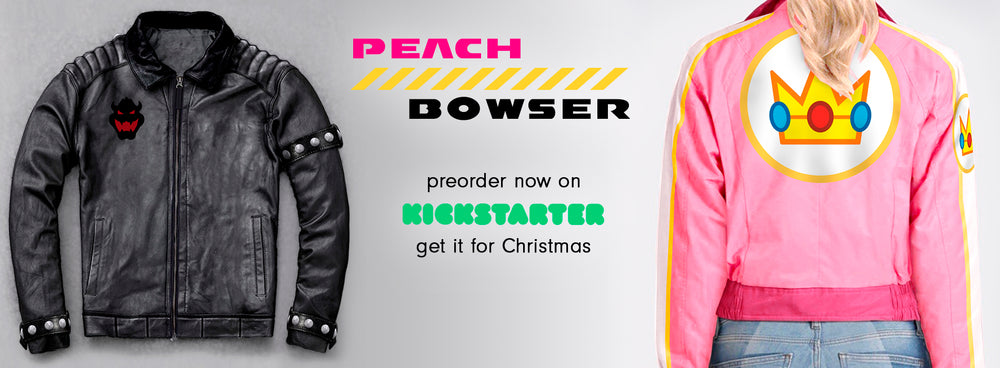 Peach & Bowser Jackets preorder on kickstarter