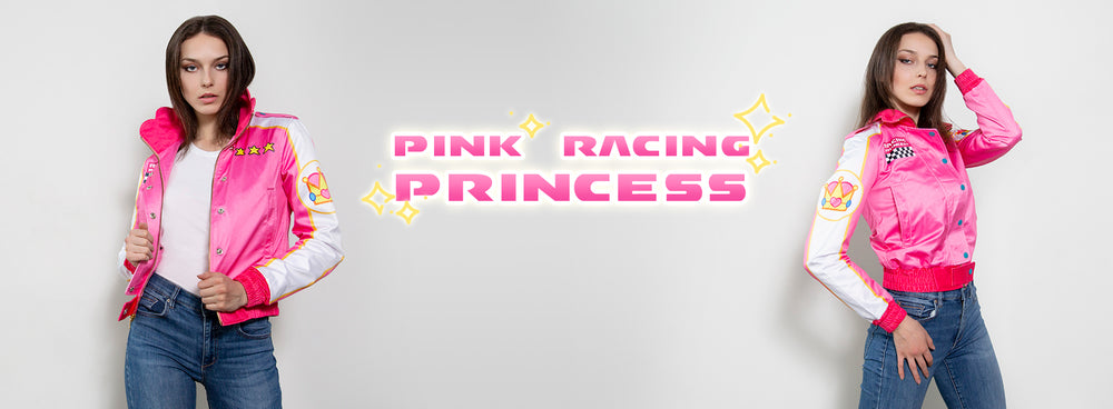 new pink racing princess bomber jacket now available