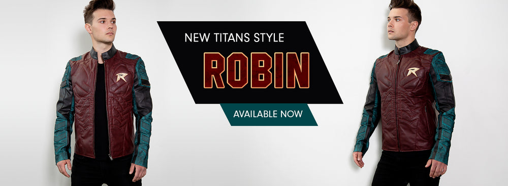 Robin Titans New Leather Jacket available now