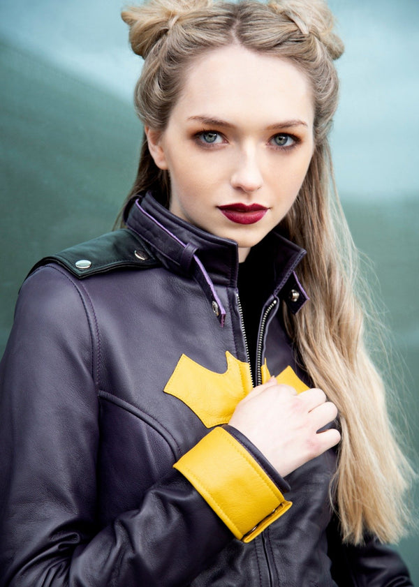 Batgirl Leather Motorcycle Jacket DC Comics batgirl of burnside