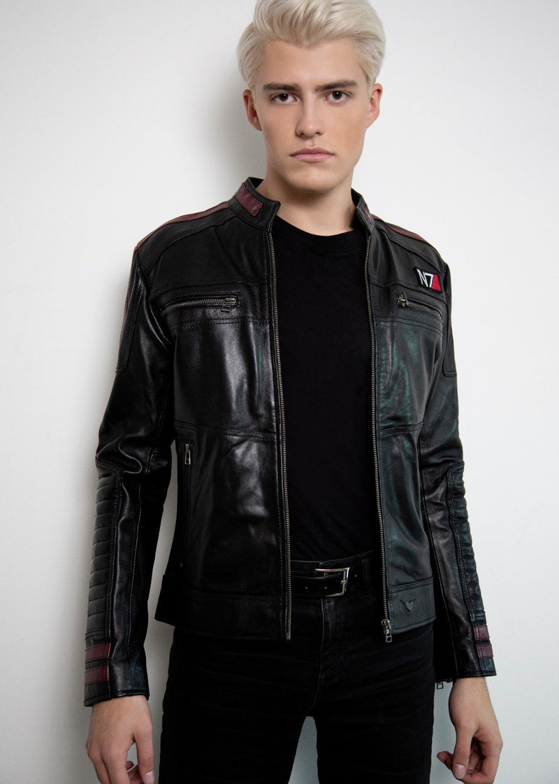 Mens Commander Shepard Mass Effect N7 Leather Jacket