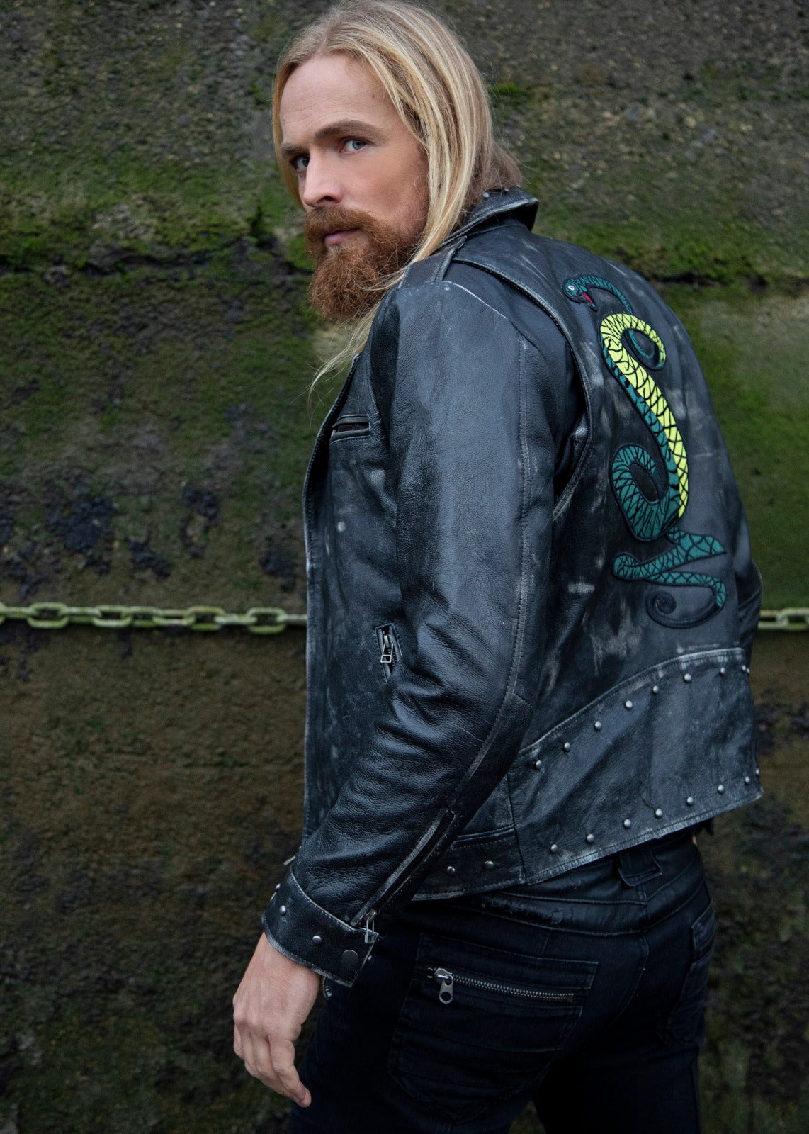 Buy Tunnel Snakes Rules Biker Leather Jacket Motorcycle