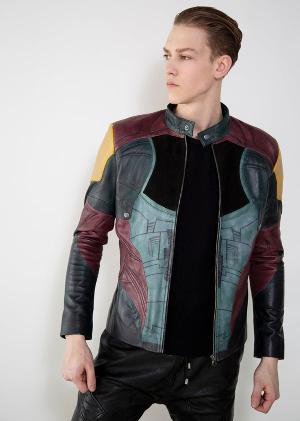 Buy Mens Mandalorian Boba Fett Leather Jacket
