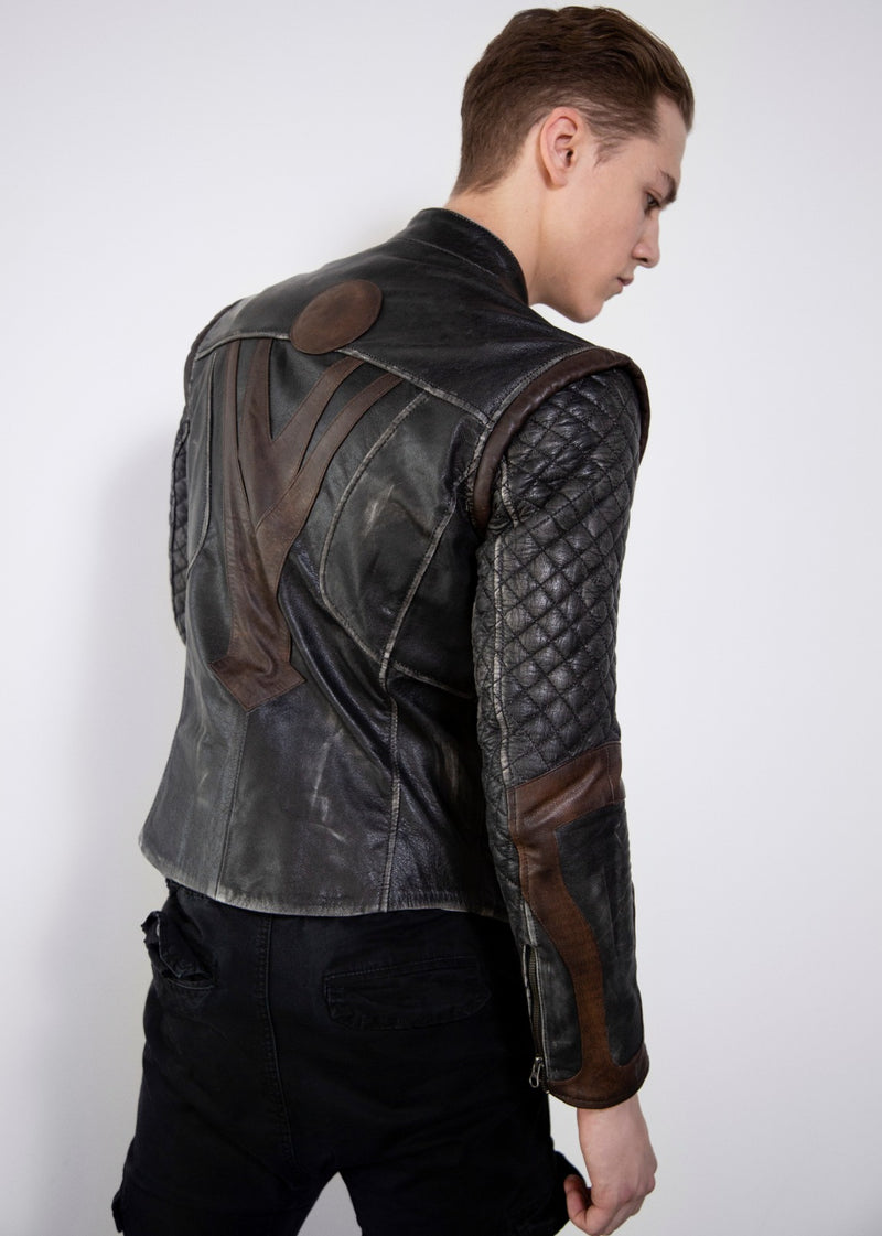 Mens Thor  Leather jacket Hoodie
