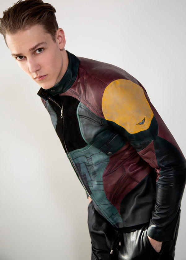 Mens Mandalorian Boba Fett Leather Jacket Luca Giorgio