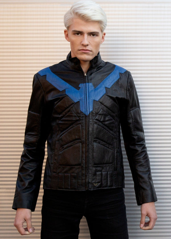 Buy Nightwing Leather jacket DC Blue